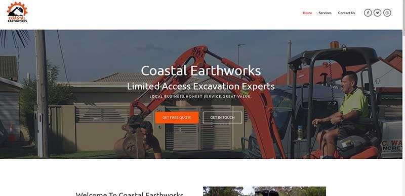 image of coastal earthworks website